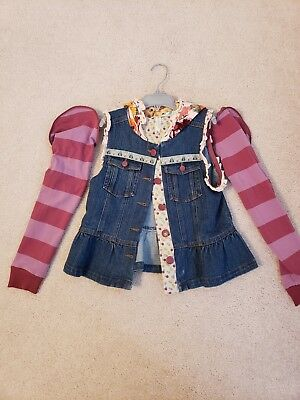MATILDA JANE LABYRINTH HOODED JACKET/VEST DENIM GIRLS sz 10