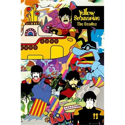 The Beatles Yellow Submarine Poster - 61 x 91cm Wall Decor Home Bedroom