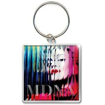 Madonna Keychain: Mdna - Keychain Square Metal Keyring Fan Gift Official Logo