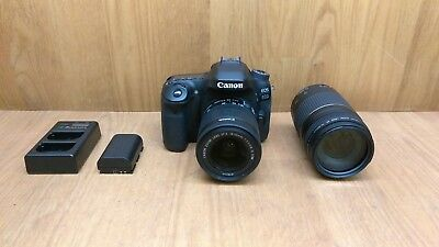 Canon EOS 80D 24.2MP Digital SLR Camera - Black w/ 75-300mm EF & EFS 18-55mm