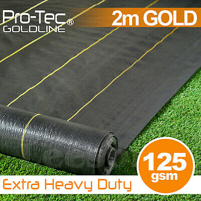 2m Extra Heavy Duty garden weed control fabric ground cover membrane landscape