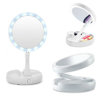 Specchio doppio con Luce led per TRUCCO Fold Away Mirror double sided MAKE-UP