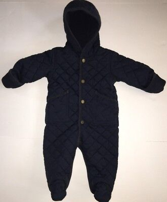 RALPH LAUREN BabyQuilted Baby Bunting coat snow suit Up To 9 Months Blue