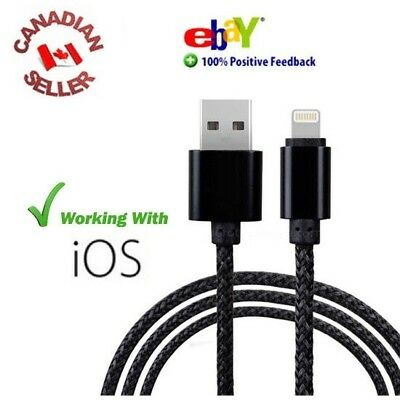 8 pin USB Charger Sync Lightning Cable Iphone Ipads Mini IOS CERTIFIED Black