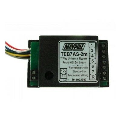 Relay - 15a 7 Way Bypass (teb7as) Bk - Maypole 12v Towing Electrics Teb7as