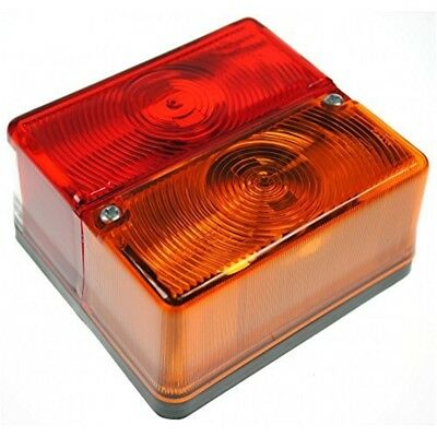 Lamp - 12v Square Rear Combi (britax 9088.00 With Bulbs) Bk - Britax 4 Function