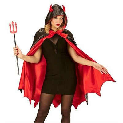 'widmann 96894 adult Devil Costume – one Size - Hooded Cape Satan Lucifer Demon