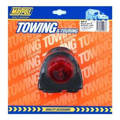 Lamp - 12v Red/white Outline Rubber Side Marker (britax 428) Dp - Maypole 037
