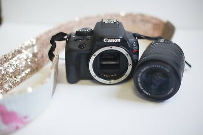 Canon Rebel SL1 DSLR EOS Camera with EF-S 18-55mm IS STM Lens - Black