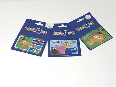 Toys R Us Geoffrey Giraffe Gift Cards - Lot of 3 - Collectible - NO VALUE
