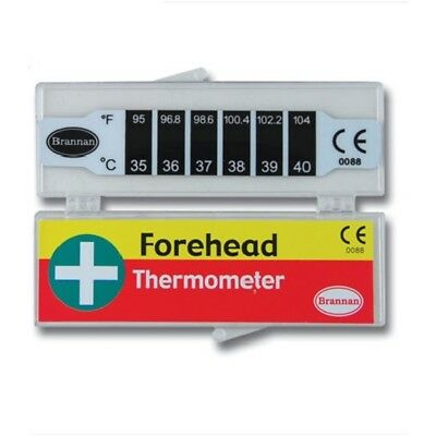 Brannan Thermometer - Forehead Strip - Fever Check Temperature 114653 Baby Kids