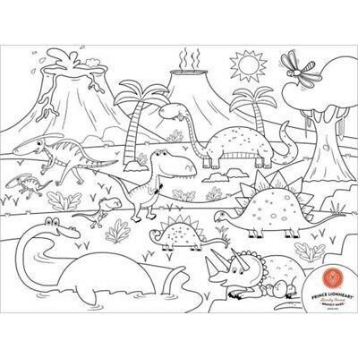Prince Lionheart Dino Colour And Draw Placemat