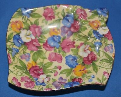 "Royal Winton Grimwades Chintz Sweet Pea Sweet Meat Dish ""Rare"" Made In England"