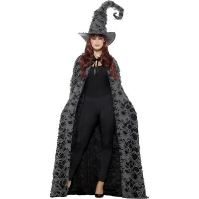Deluxe Spellcaster Cape, Grey, Distressed, Unisex - Spell Caster Witches Cape
