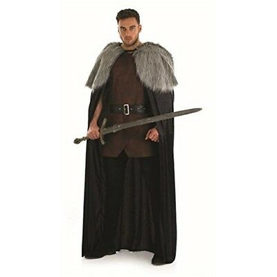 Medieval Cape - Fancy Dress Mens Game Thrones Fur Costume Snow Adult
