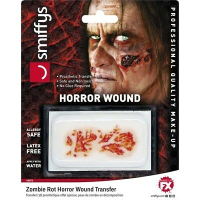 "Smiffys ""3d Prosthetic Fx Transfer/zombie Decaying Skin/water Based/allergy -"