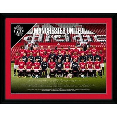 Gb Eye Ltd Manchester United, Team Photo 17/18, Framed Print 30x40cm, Wood, -