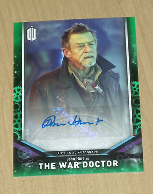2018 Topps Doctor Who signature series Green AUTOGRAPH John Hurt WAR DOCTOR /50