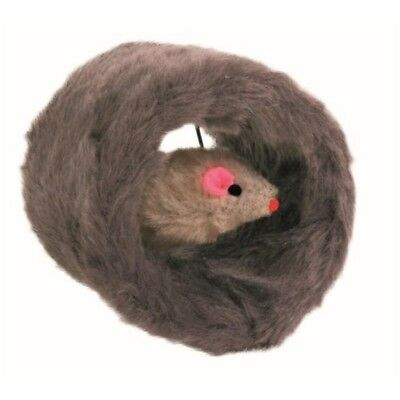 Trixie Plush Circular Roll Cat Toy With Mouse Inside - Play New Kitten Feather