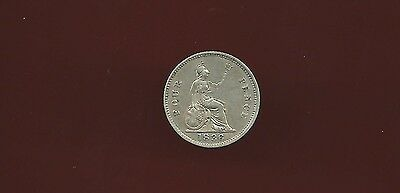Great Britain Uk 1836 four pence groat silver almost unc