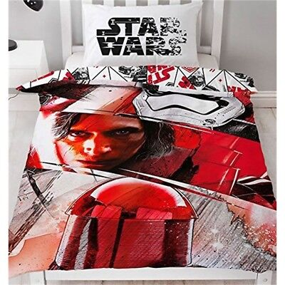 Star Wars Duvet Cover With Matching Pillow Case, Polyester-cotton, Red, Single