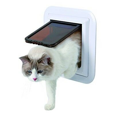 Cat Flap, 4 Ways, For Glass Doors, Xl: 30.7 × 30.7 Cm, White - Flap XL Trixie