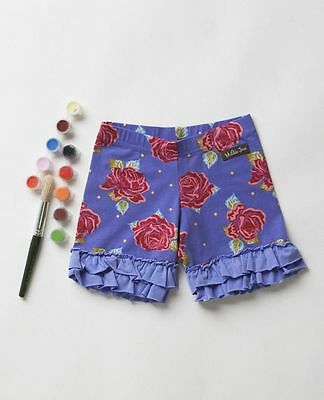 New Matilda Jane Size 6 Months Paint By Numbers BARNYARD Purple Floral Shorties