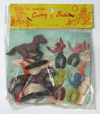 Toys International Indians And Cowboys 1970S Baggie