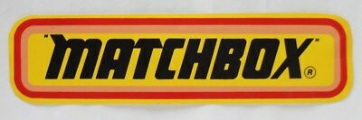 Matchbox logo original sticker Kleber