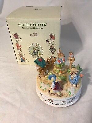 "Beatrix Potter Music Box ""Oh What a Beautiful Morning""  Schmid 100th Anniversary"