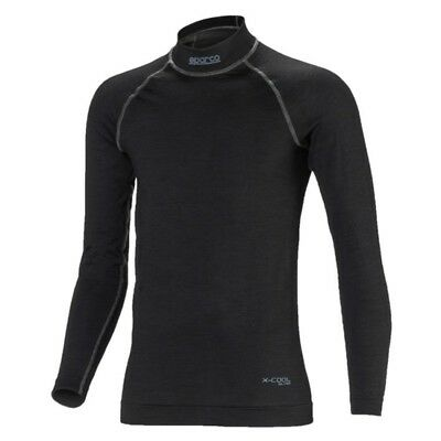 Sparco 0017614 Nomex ICE Underwear, Top, Black, Small
