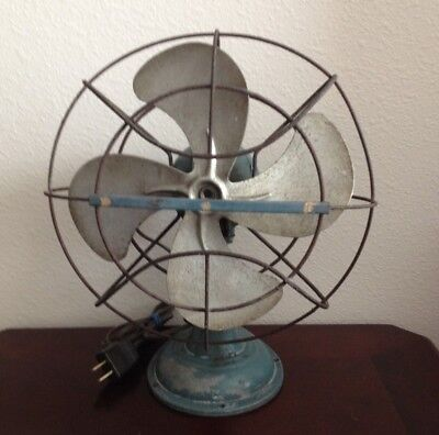 Vintage Westinghouse Livelyaire Oscillating All Metal Electric Fan. Tested.works