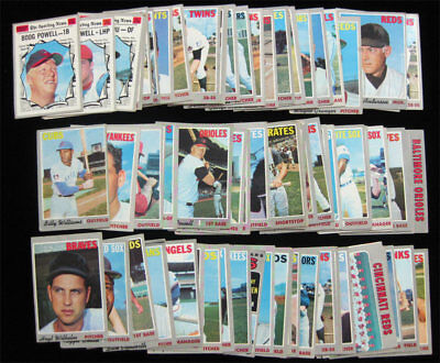 1970 Topps Baseball 75 Card Lot - Lower Grade Starter Set w Powell Wilhelm Stars
