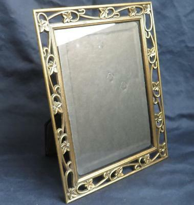 VTG Ornate Brass Ivy Leaves Vines Picture Frame Photo Made in Korea