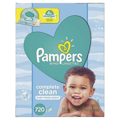 Pampers Baby complete  clean Baby Wipes 10 Pop-Top Packs, 702 Count