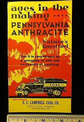 Vintage Pennsylvania Anthracite Coal Ink Blotter