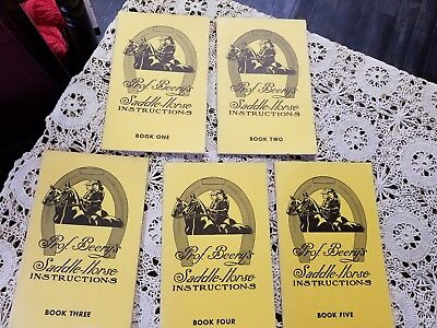 Vintage Prof Beery's Saddle Horse Instructions Complete Set-- 5 Vols. 1963