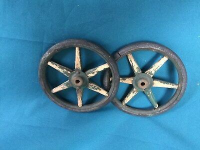 Pair Of Antique Cart Wheels
