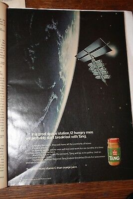 vintage magazine ad advertising print 1969 TANG ASTRONAUTS FOOD SPACE STATION