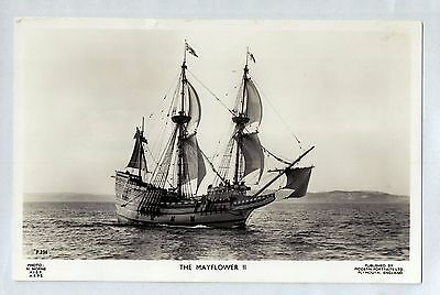 D1218ryt Transport The Mayflower II Plymouth Sailing Ship vintage postcard