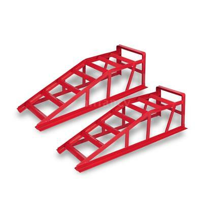 2pcs Heavy Duty Car Ramps Display Service Tool Steel Tyre Loading Stand NEW P2K4