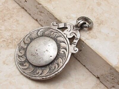 Vintage Antique Sterling Silver 925 Albert Chain Fob Medal