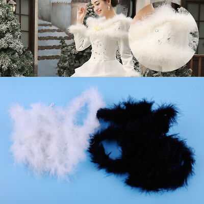 2M Feather Boa Strip Ribbon Fluffy Craft Costume Fancy Dress Wedding Party Decor