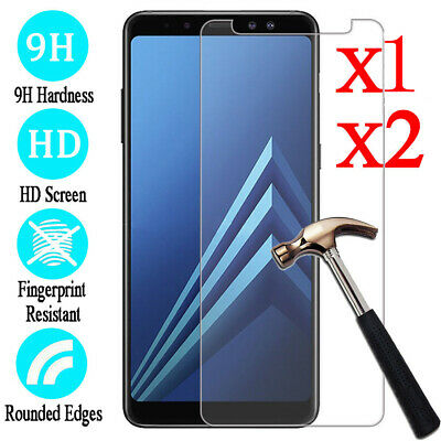 2x Tempered Glass Protective Screen Protector Film for Samsung Galaxy A8/A8 Plus