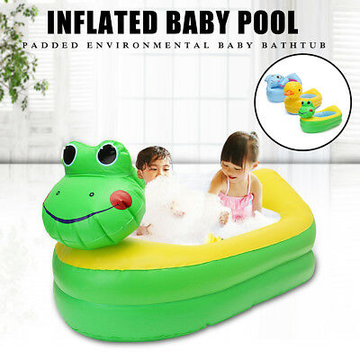Inflatable Safety Baby Toddler Bath Tub Shower Bathing Toy Duck/Elephant/Frog
