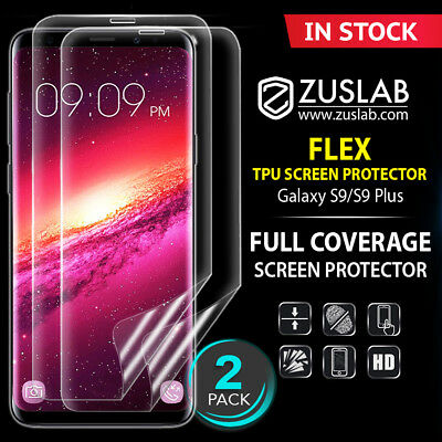 For Galaxy S8 S9 S9 Plus ZUSLAB Flex 3D Full Cover Soft TPU Screen Protector
