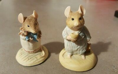 Bramley Hedge Teddy Mouse BH40 and Teasel BH30. Immaculate condition.