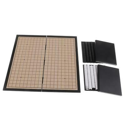 Folding Magnet Chess Board I-GO Chess Checkers Game Set for Family Leisure