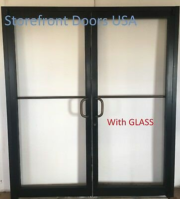 Bronze Commercial Storefront Door pair w GLASS 6'0x7'0