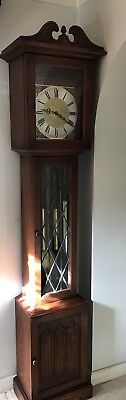 Old Charm Grandfather Clock OC1792 Tudor Brown